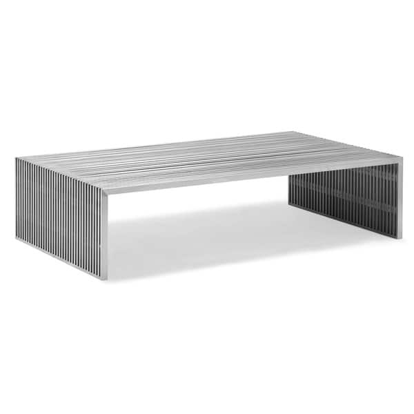 Amazing Well Known Long Coffee Tables Inside Novel Long Stainless Steel Coffee Table Free Shipping Today (View 8 of 50)