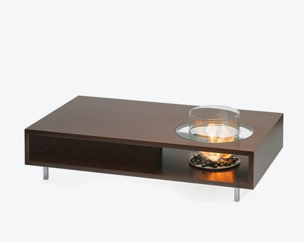 Amazing Well Known Long Coffee Tables Within Coffee Fire Long Ethanol Fireplace Planika (Image 6 of 50)