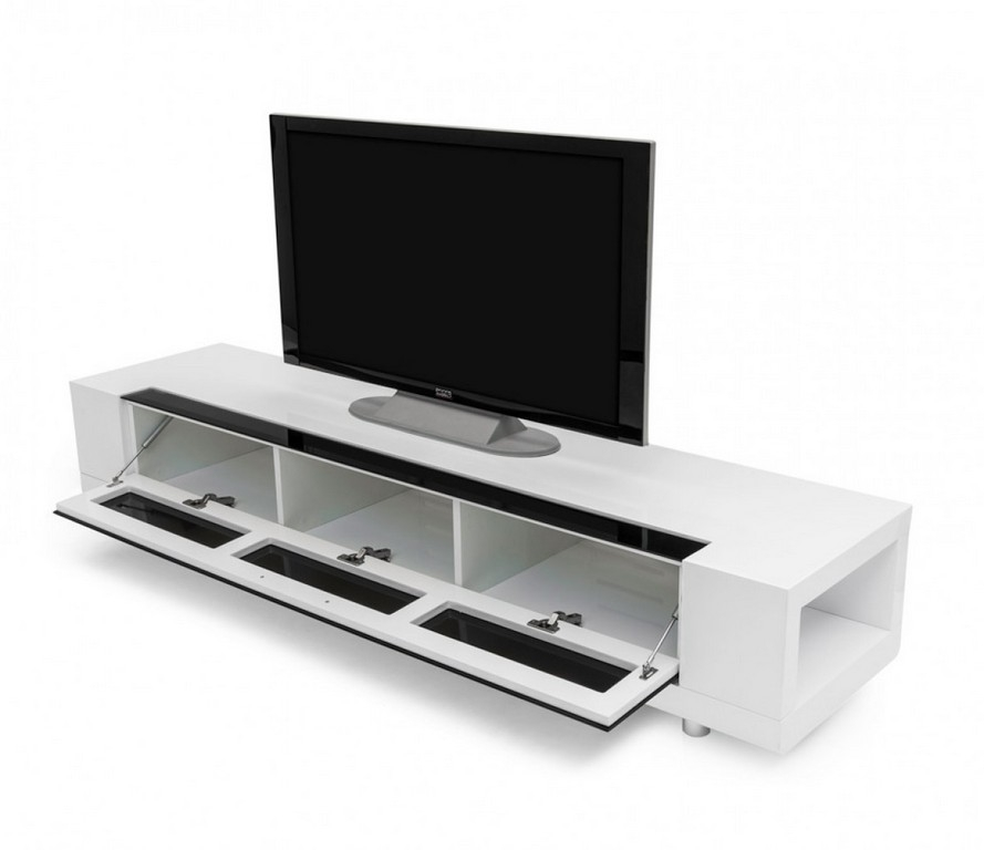 Amazing Wellknown Long Low TV Cabinets Pertaining To Small White Tv Stands (Image 6 of 50)