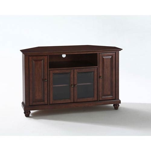 Amazing Well Known Mahogany Corner TV Stands Within Cambridge 48 Inch Corner Tv Stand In Vintage Mahogany Finish (Image 4 of 50)
