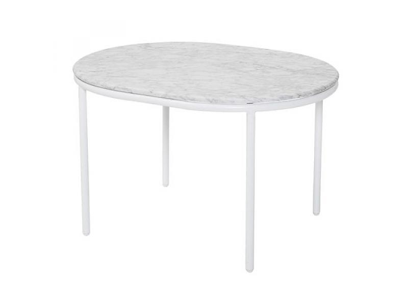 Amazing Well Known Marble And Metal Coffee Tables Inside Bloomingville Vega Coffee Table White Marble Metal Living And Co (Image 5 of 40)
