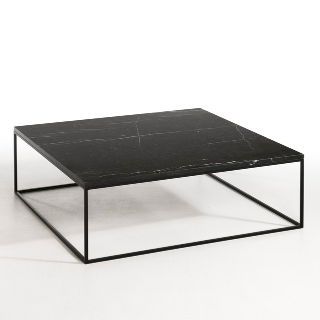 Amazing Well Known Marble And Metal Coffee Tables Inside Mahaut Marble And Black Metal Coffee Table Ampm La Redoute (Image 6 of 40)