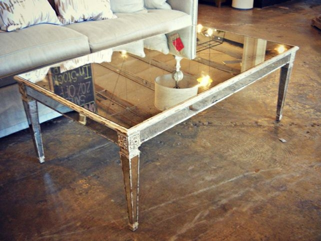 Amazing Wellknown Oval Mirrored Coffee Tables With Regard To Round Mirrored Coffee Table (Image 3 of 50)
