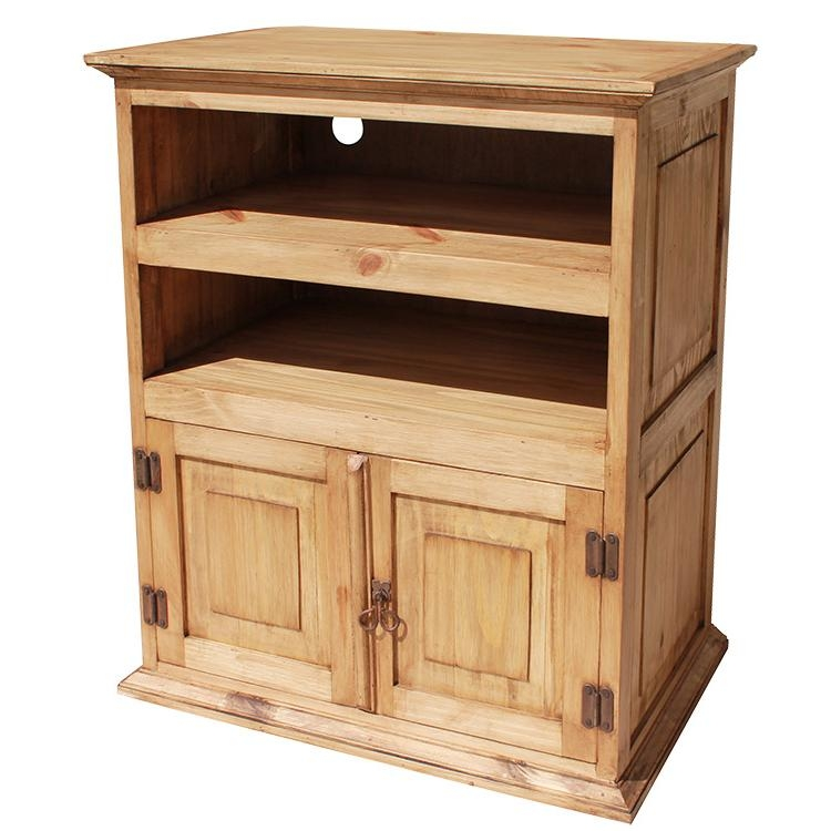 Amazing Wellknown Pine Wood TV Stands With Regard To Rustic Pine Collection Tall Tv Stand Com (View 27 of 50)