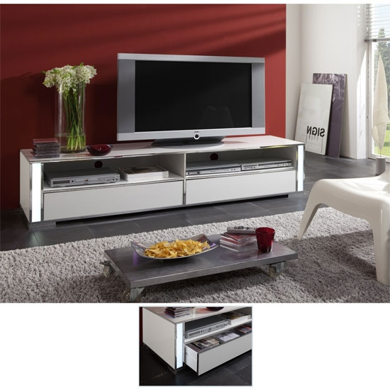 Amazing Wellknown Plasma TV Stands In Lucent High Gloss White Plasma Tv Stand 56200  (Image 4 of 50)