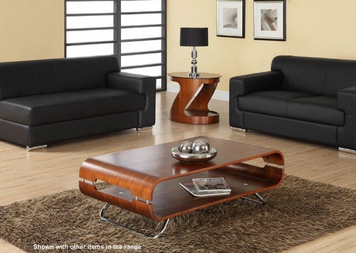 Amazing Wellknown Range Coffee Tables Within Jual Curve Jf302 Walnut Coffee Table (Image 2 of 50)