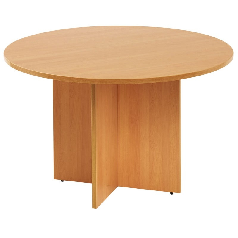 Amazing Well Known Round Beech Coffee Tables Within M Round Meeting Table In Beechoakmaple (Photo 10 of 50)