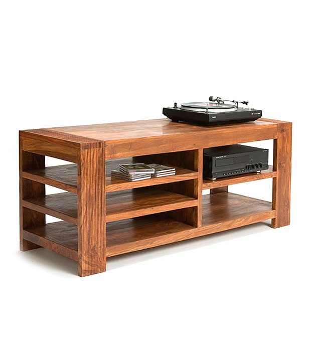 Amazing Wellknown Sheesham Wood TV Stands Intended For Royal Homz Sheesham Wood Simple Tv Stand Buy Royal Homz Sheesham (View 13 of 50)