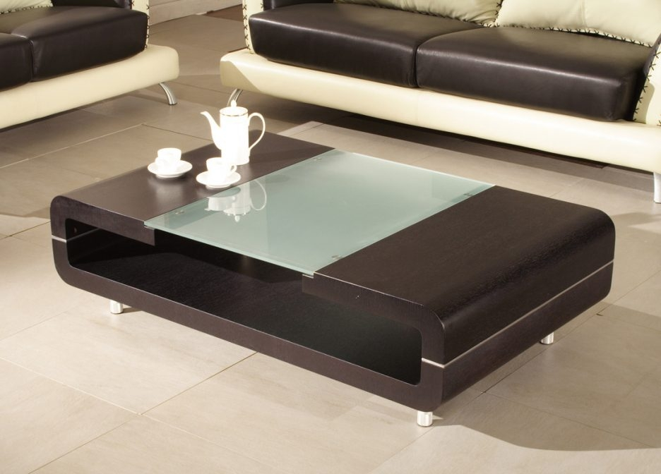 Amazing Wellknown Short Legs Coffee Tables Regarding Coffee Table With Contemporary Square Glass At It Center Adding A (Image 1 of 50)