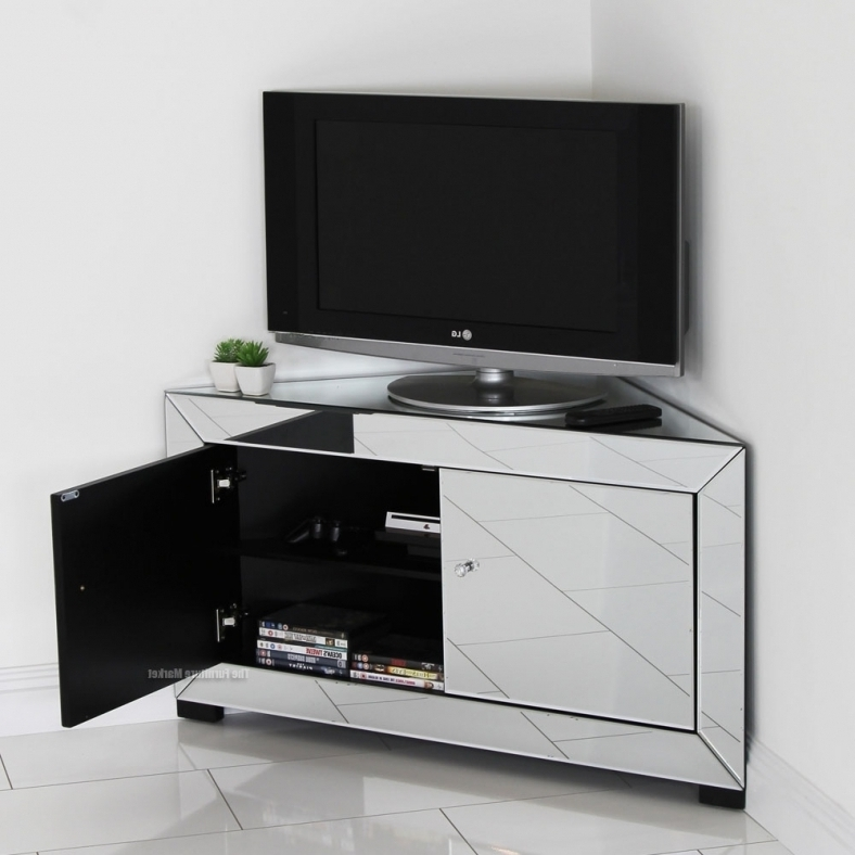 Amazing Well Known Silver Corner TV Stands Pertaining To Corner Tv Stand Homewith17website (Image 8 of 50)