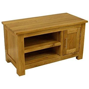 Amazing Well Known Small Oak TV Cabinets Throughout Roseland Furniture Sale Oak Tv Stand Amazoncouk Kitchen Home (Image 6 of 50)