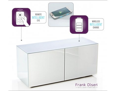Amazing Wellknown Small White TV Cabinets Throughout Frank Olsen Intel1100wht Tv Stands (Image 2 of 50)