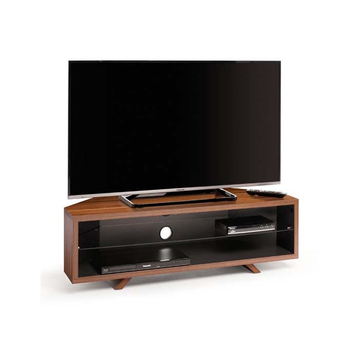 Amazing Well Known Techlink Corner TV Stands Regarding Techlink Dual Corner Series 55 In Tv Stand Dark Oak And Satin (Image 3 of 50)