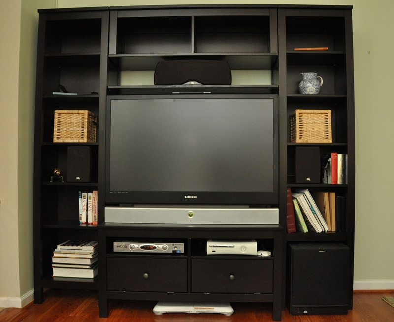 Amazing Well Known TV Stands With Matching Bookcases With Regard To Custom Hemnes Entertainment Center Ikea Hackers Ikea Hackers (View 29 of 50)