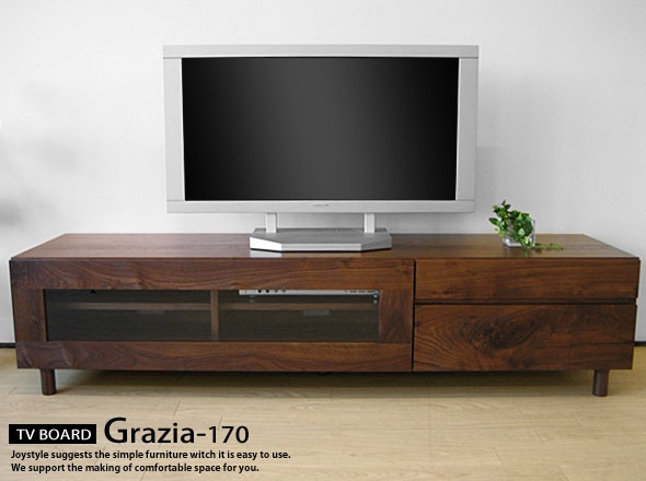 Amazing Wellknown Wooden TV Cabinets With Glass Doors Inside Joystyle Interior Rakuten Global Market Width 170 Cm Walnut (Image 10 of 50)