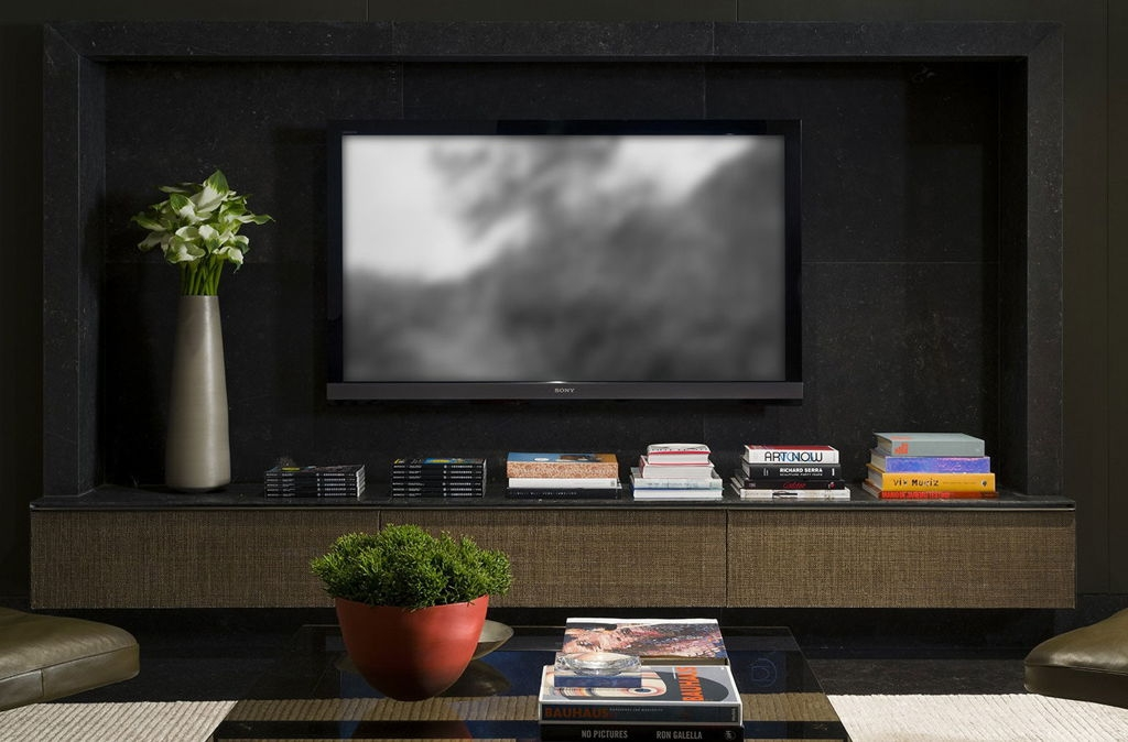 Amazing Wellliked Black And Red TV Stands Inside Living Room Marvelous Modern Tv Room Design Ideas With Black (Image 6 of 50)