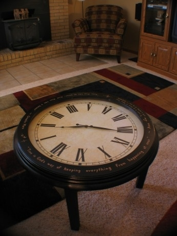 Amazing Wellliked Clock Coffee Tables Round Shaped Throughout Best 20 Clock Table Ideas On Pinterest Small Round Side Table (Photo 2 of 50)