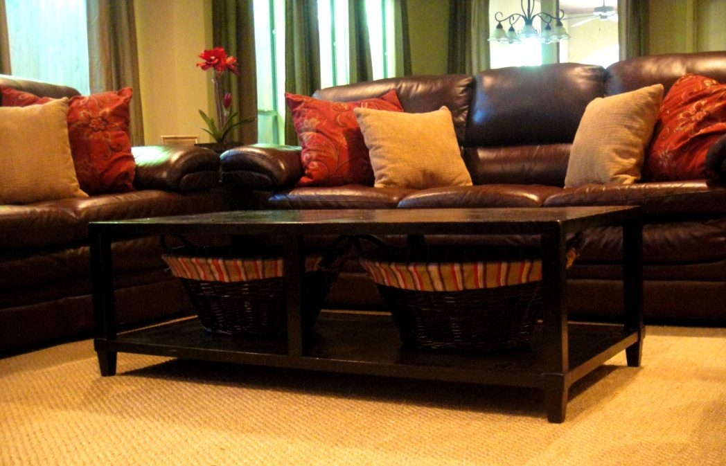 Amazing Wellliked Coffee Tables With Baskets Underneath Regarding Bedroom Pleasant Table Baskets Coffee Tables Wicker Basket Is Also (Image 4 of 40)
