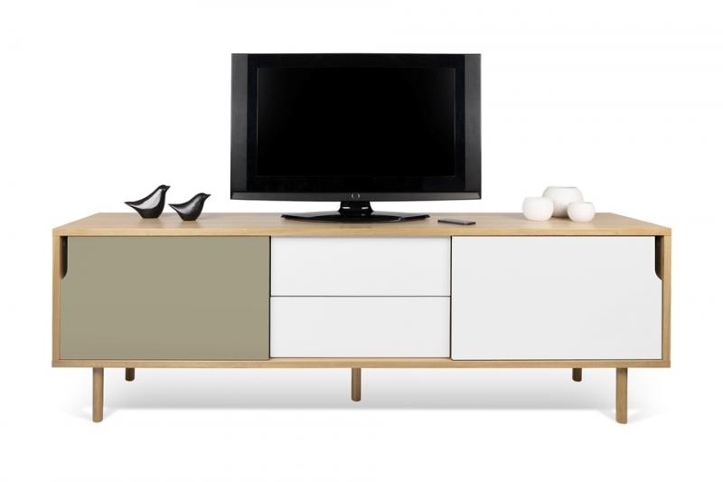 Amazing Wellliked Contemporary Oak TV Cabinets Pertaining To Temahome Dann Tv Cabinet Contemporary Furniture Modern Living (Image 1 of 50)