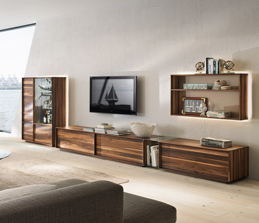Amazing Wellliked Full Wall TV Cabinets Throughout Living Room Cool Modern Living Room Design Ideas With Brown (Image 5 of 50)