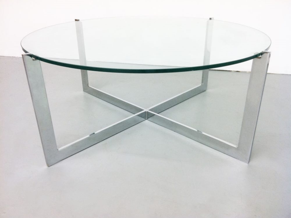 Amazing Wellliked Glass Circle Coffee Tables Throughout Modern Round Glass Coffee Table Table And Estate (Image 7 of 50)