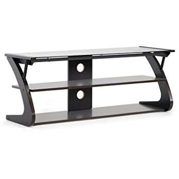 Amazing Wellliked Glass TV Stands Pertaining To Amazon Baxton Studio Sculpten Modern Tv Stand With Glass (View 46 of 50)