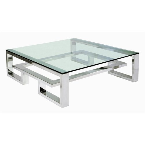 Amazing Wellliked Large Square Glass Coffee Tables For Elegant Square Glass Coffee Table (Image 3 of 50)