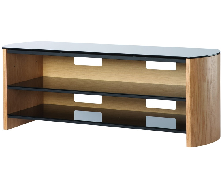 Amazing Wellliked Light Brown TV Stands With Alphason Finewoods Fw1350 Light Oak Tv Stand Alphason (Image 4 of 50)