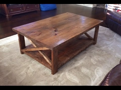 Amazing Wellliked Rustic Coffee Tables With Bottom Shelf For How To Make A Rustic Coffee Table With A Bottom Shelf Ana White (Image 8 of 50)