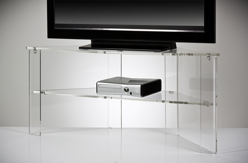 Amazing Wellliked Triangular TV Stands Regarding Clear Acrylic Tv Stand Office Design Gallery The Best Offices (Image 3 of 50)