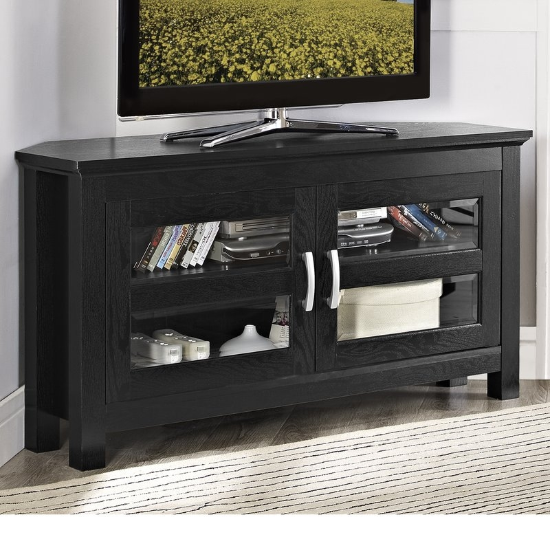 Amazing Wellliked Wayfair Corner TV Stands With Latitude Run Jackson Corner 44 Tv Stand Reviews Wayfair (View 36 of 50)
