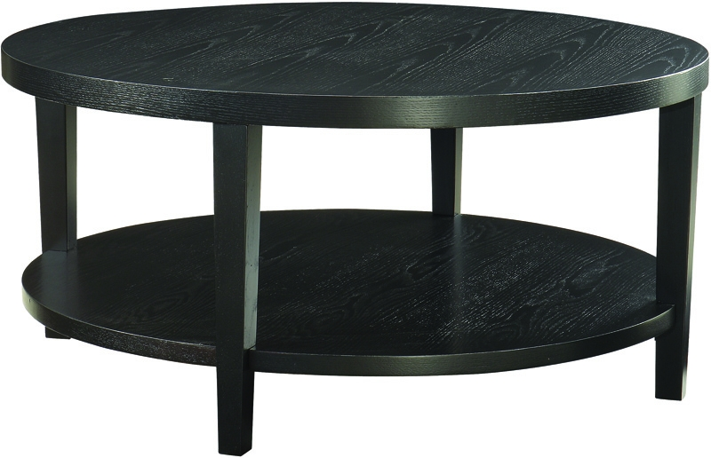 Amazing Widely Used Black Circle Coffee Tables Intended For Exellent Round Black Coffee Table Glass Top Other Gallery For (Image 4 of 50)