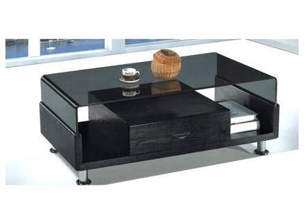 Amazing Widely Used Black Glass Coffee Tables Pertaining To Coffee Table Round Glass Top Coffee Table Frenchsmall Black (Image 5 of 50)