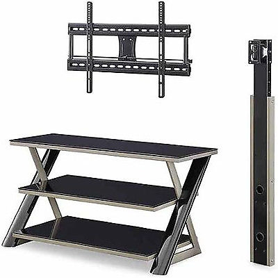 Amazing Widely Used Contemporary Glass TV Stands In Modern Glass Tv Stand Entertainment Center Shelves Organizer (Image 4 of 50)