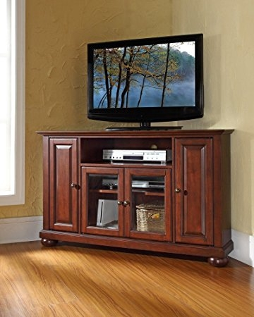 Amazing Widely Used Corner TV Cabinets For 55 Inch Tv For Amazon Crosley Furniture Alexandria 48 Inch Corner Tv Stand (View 27 of 50)