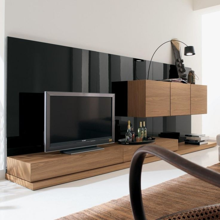 Amazing Widely Used Long Wood TV Stands Regarding Best 20 Black Gloss Tv Unit Ideas On Pinterest Floating Tv Unit (Image 6 of 50)