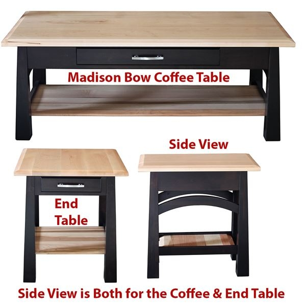 Amazing Widely Used Madison Coffee Tables Pertaining To The Size Of This Wonderful Amish Furniture Handmade Madison Bow (View 31 of 40)