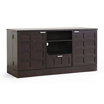 Amazing Widely Used Modern Black TV Stands With Regard To Amazon Baxton Studio Tosato Brown Modern Tv Stand And Media (Image 4 of 50)