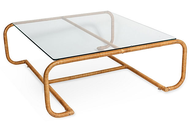 Amazing Widely Used Retro Glass Top Coffee Tables Intended For Rattan And Glass Coffee Table Idi Design (Image 2 of 40)