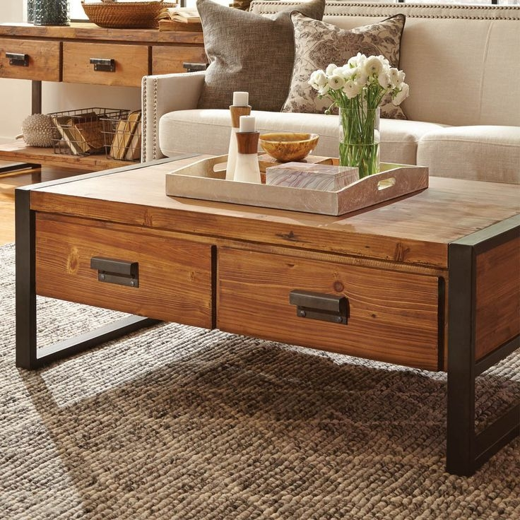 Amazing Widely Used Rustic Coffee Table Drawers Throughout Coffee Tables With Drawers Beautiful Rustic Coffee Table For (View 7 of 50)