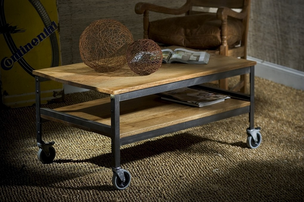Amazing Widely Used Rustic Coffee Table With Wheels Within Coffee Table Rustic Coffee Tables Amazing Rustic Coffee Tables (Image 5 of 50)