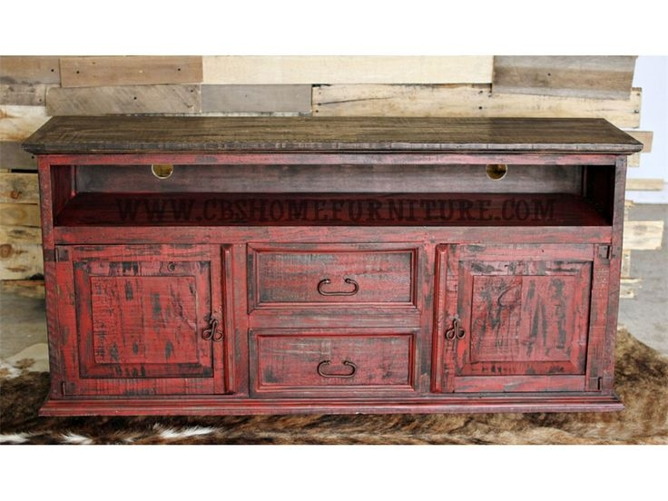Amazing Widely Used Rustic Red TV Stands Regarding Best 20 Red Distressed Furniture Ideas On Pinterest Distressed (Image 4 of 50)