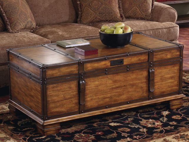 Amazing Widely Used Trunk Chest Coffee Tables Inside Wooden Trunk Coffee Table Idi Design (View 13 of 50)