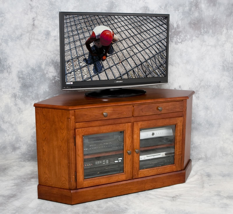 Amazing Widely Used Wood Corner TV Cabinets Intended For Dcv 4030 Corner Tv Stand Quality Entertainment Furniture (View 3 of 50)