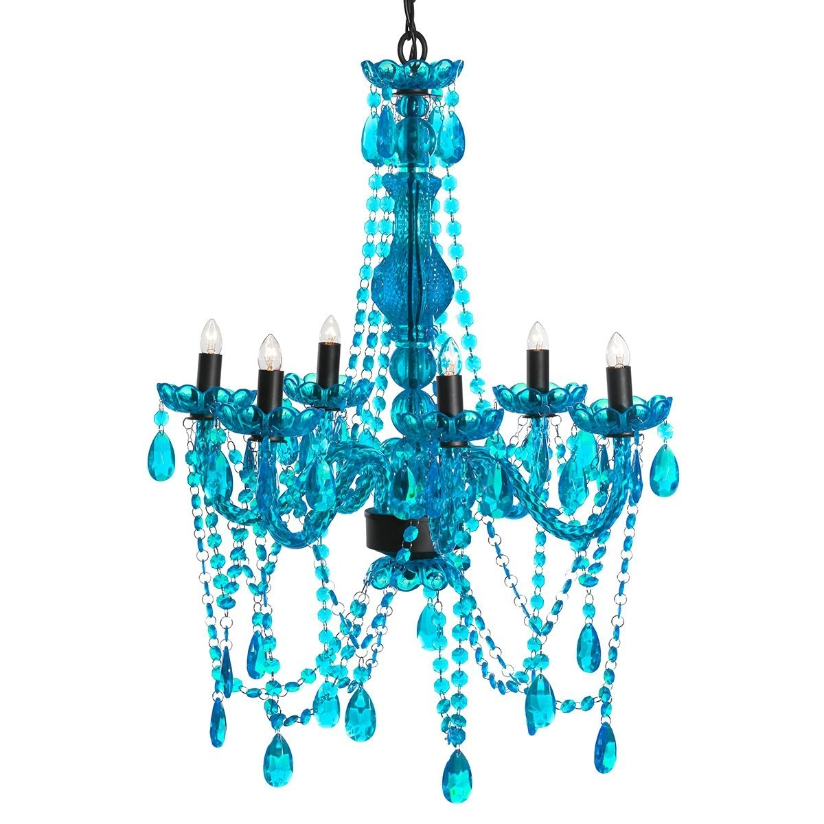 Amazon 3c4g Chandelier Turquoise Home Kitchen Within Turquoise Chandelier Lights (Image 4 of 25)