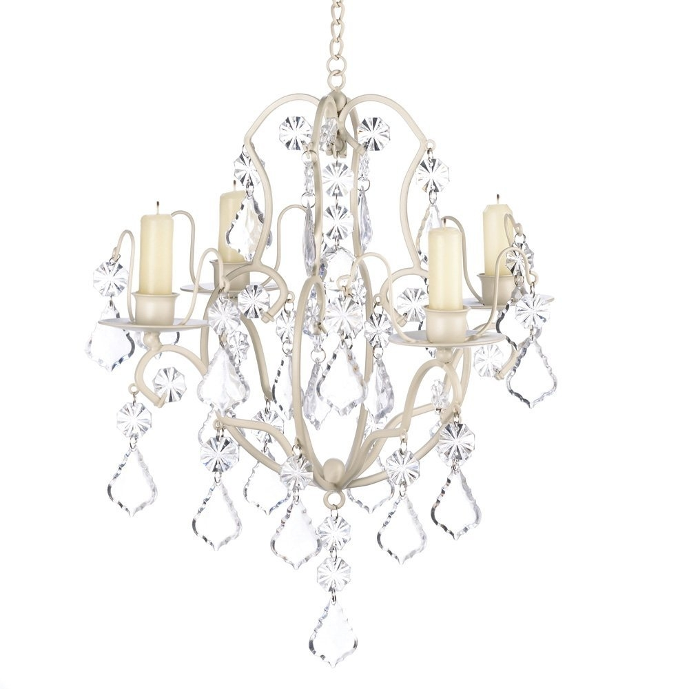 Amazon Gifts Decor Ivory Baroque Candle Chandelier Iron For Candle Look Chandeliers (Image 1 of 25)