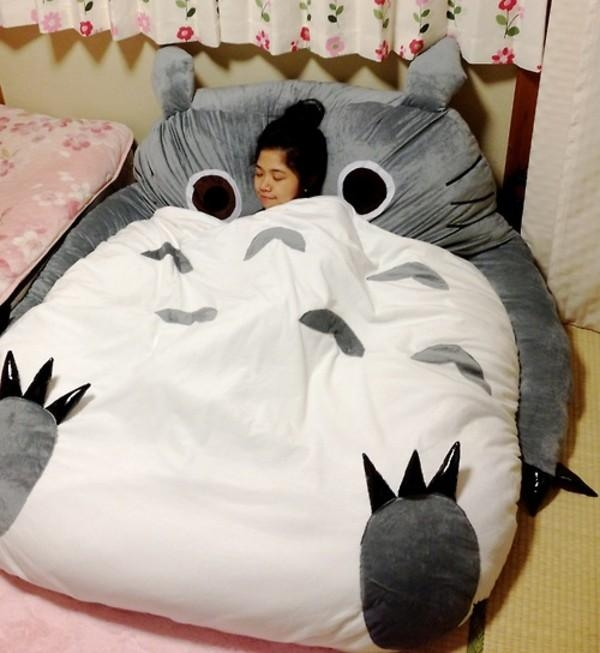 Amazon – My Neighbor Totoro Sleeping Bag Sofa Bed Twin Bed Within Sleeping Bag Sofas (Image 3 of 20)