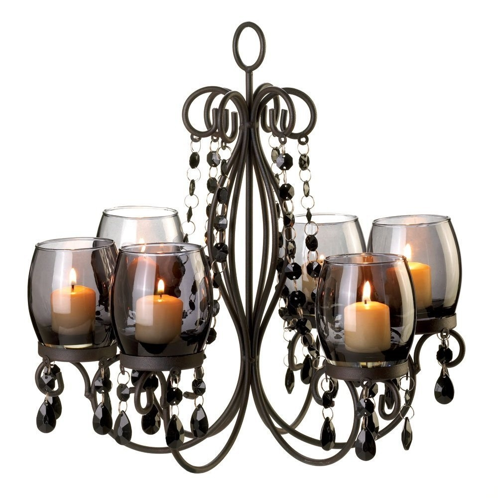 Amazon Verdugo Gift Midnight Elegance Candle Chandelier Home Within Candle Look Chandeliers (Image 2 of 25)