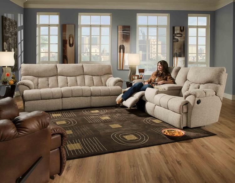American Made Reflex Leather Lay Flat Reclining Sofa Set – Sofa Intended For Reclining Sofas And Loveseats Sets (Image 2 of 20)