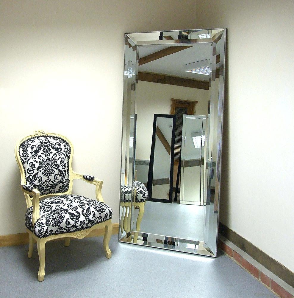 Amusing Free Standing Full Length Mirror With Railing Banister For Full Length Large Mirror (Image 1 of 20)